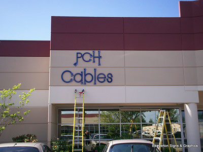 Installation of Foam Letters on Exterior Wall