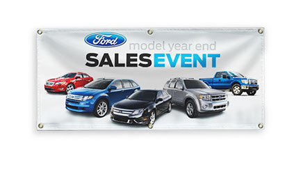 Car Banner Full Color Print with Grommets