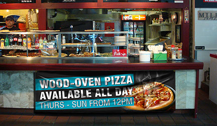 Full Color Indoor Digital Print Banner for Pizza Shop