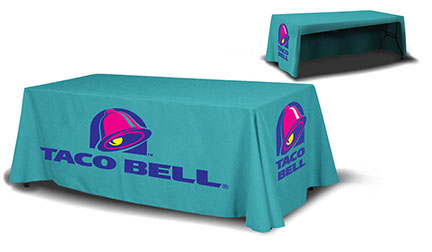 Taco Bell 3 Sided Table Cover for a 8ft Table