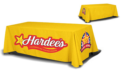 Hardee's 4 Sided Table Cover for a 8ft Table